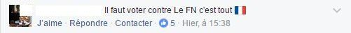 Commentaire Facebook Pro Le Pen