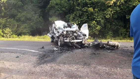Accident sur la route d'Iracoubo