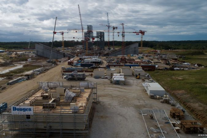Le chantier de la table du pas de tir Ariane 6