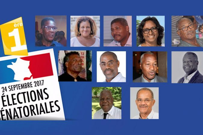 Candidats sénatoriales Martinique