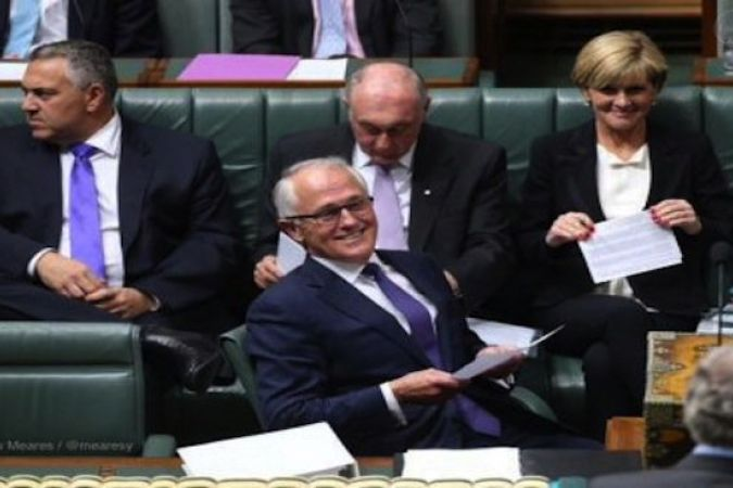 Malcolm Turnbull au Parlement