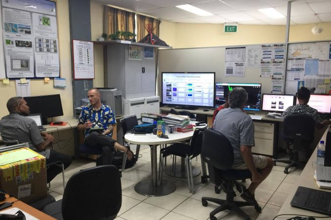 Centre de gestion de crise Vanuatu meteorology and géo-hazards department Port-Vila (2 octobre 2017)