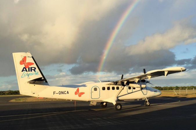 Twin Otter Air Loyauté bloqué à Tiga