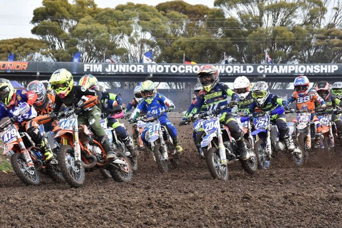 Championnat de motocross junior 2018.