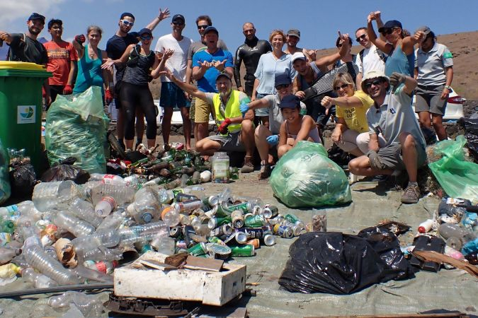 World Clean Up Day sur le site du Cap Lahoussaye