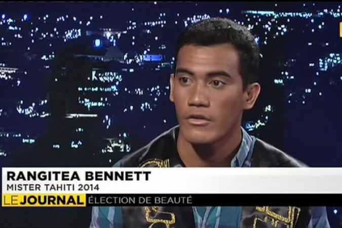 Rangitea Benett, Mister Tahiti, invité du journal