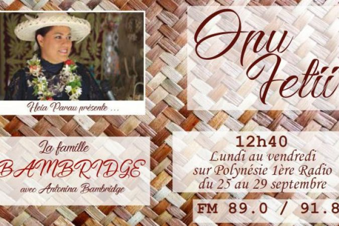 Opu fetii : famille Bambridge - 25 au 27 sept 2017