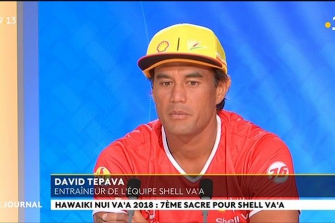 Invité du Journal : David Tepava, Capitaine Shell Va'a