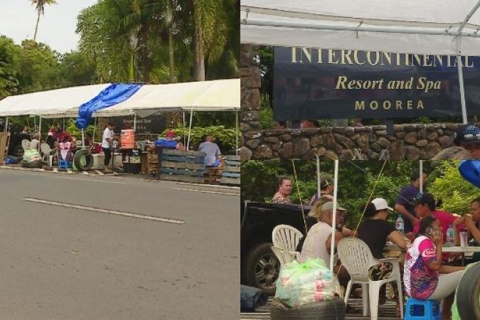 Grève à l'Intercontinental de Moorea
