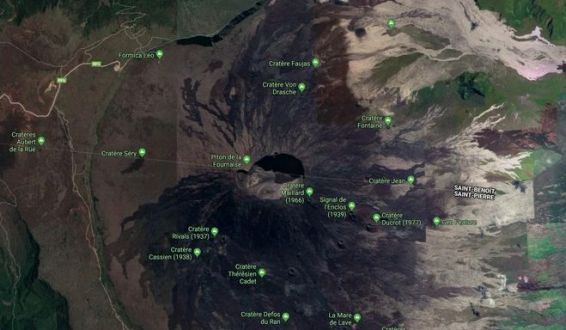 volcan enclos capture google maps