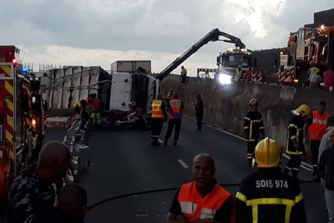 Accident camion Grande-Chaloupe