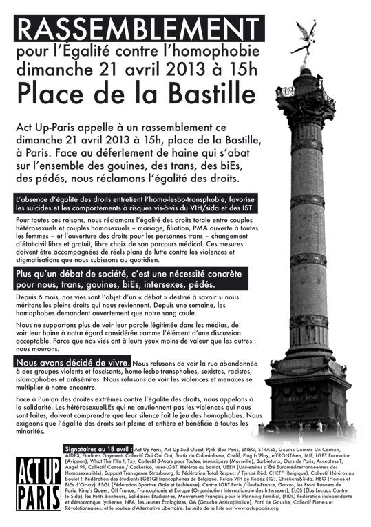 Appel Act-Up Paris