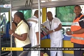 Accident bus Fort de France