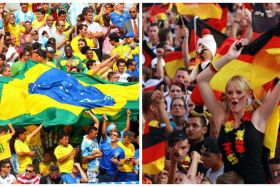Allemagne Bresil supporters