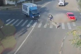 Accident cycliste russie
