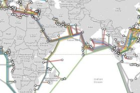 Carte cables internet océan indien