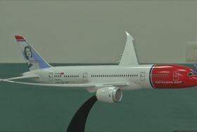 norwegian Airlines maquette