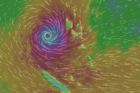 Vue cyclone Donna windy (8 mai 6 heures)