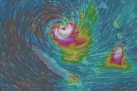 Vue cyclone Donna windy bis (8 mai 6 heures)