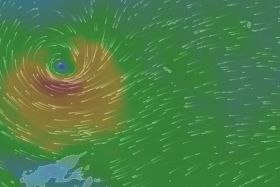 Capture Windy TV dépression Ella quand fin alerte 2 sur Futuna (13 mai 2017)
