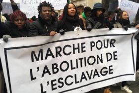 Manif contre l'esclavage à Paris