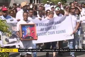 Marche blanche sergent Alexandre Chan Ashing