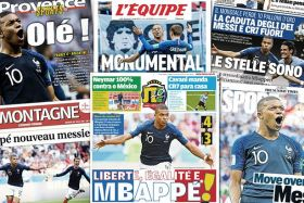 presse internationale mbappe