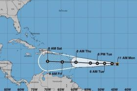 Trajectoire possible Isaac 10/09/2018