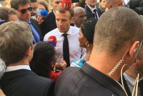 Emmanuel Macron en Martinique
