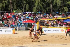 JIOI 2019 : beach volley médaille d'or réunionnaises face aux mauriciennes 210719