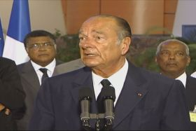 Chirac en Martinique