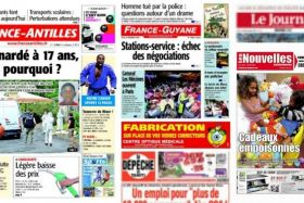 Collage titres presse outremer