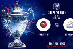 coupe de France de football : Évreux FC 27 - FC M'Tsapere