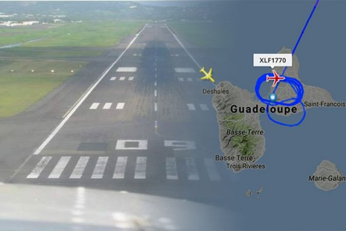 iNCIDENT GUADELOUPE PISTE AEROPORT