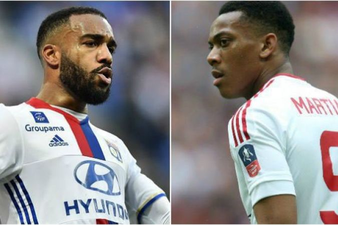 Alexandre Lacazette et Anthony Martial