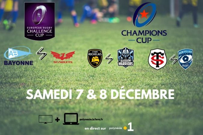 Rugby matches champions cup et challenge cup