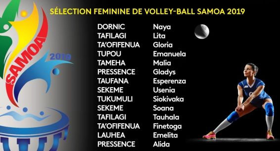 Samoa 2019 : volleyball sélection files